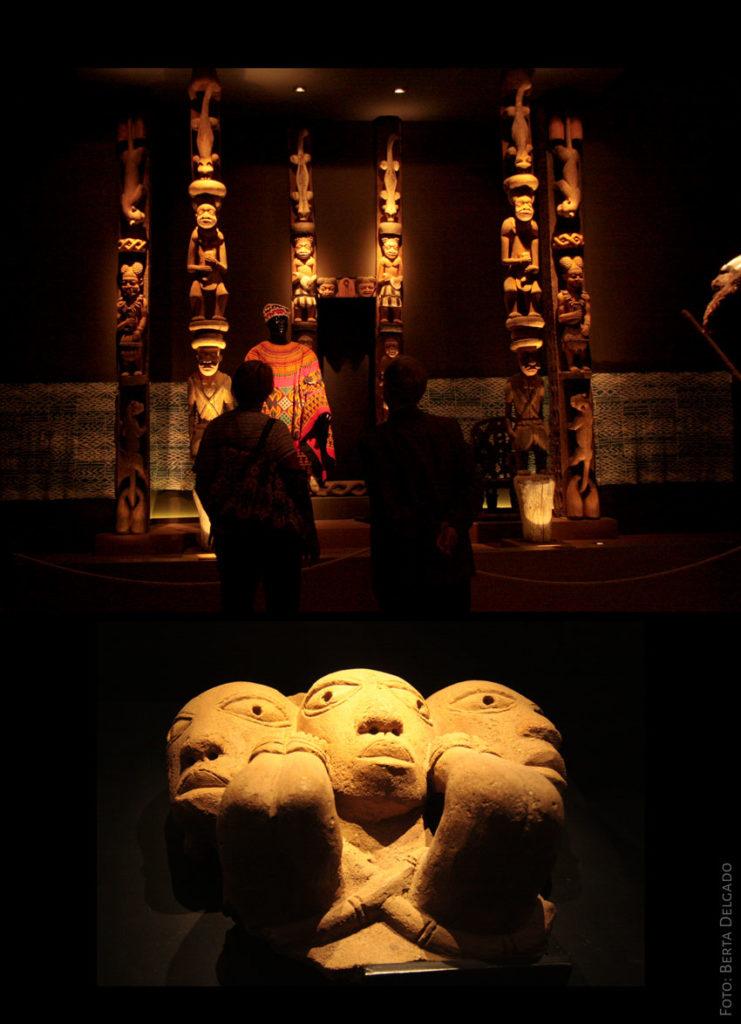 Piezas expuestas en el Museo de Arte Africano de Valladolid