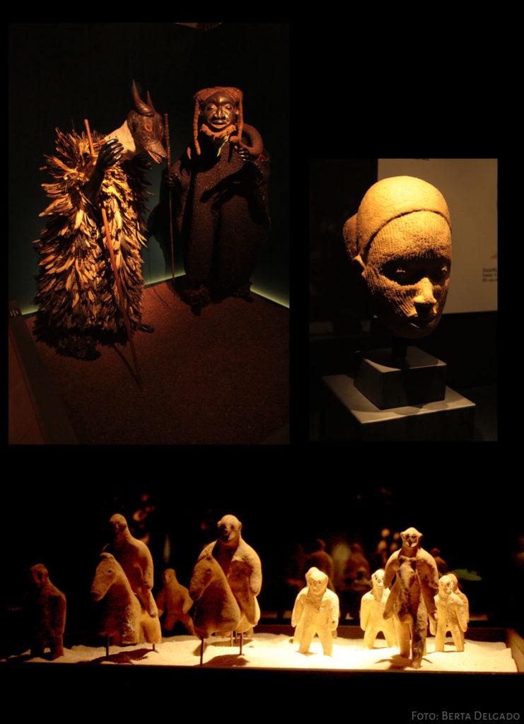 Piezas expuestas en el Museo de Arte Africano de Valladolid - Fundación Jiménez-Arellano (UVA)