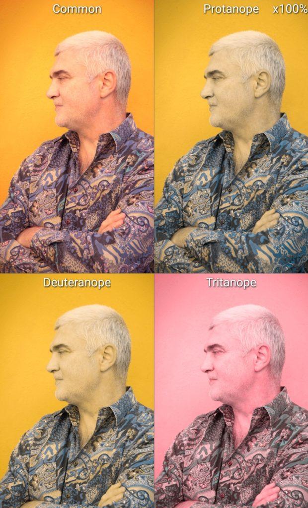 Ejemplos de cómo perciben los colores las personas con diferentes tipos de daltonismo