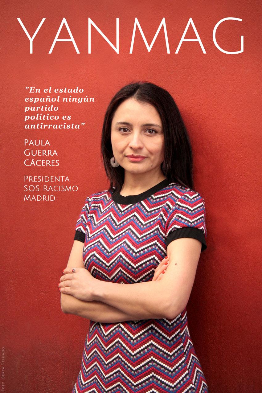 Paula Guerra Caceres. Presidenta de SOS Racismo Madrid. Foto: Berta Delgado. YanMag