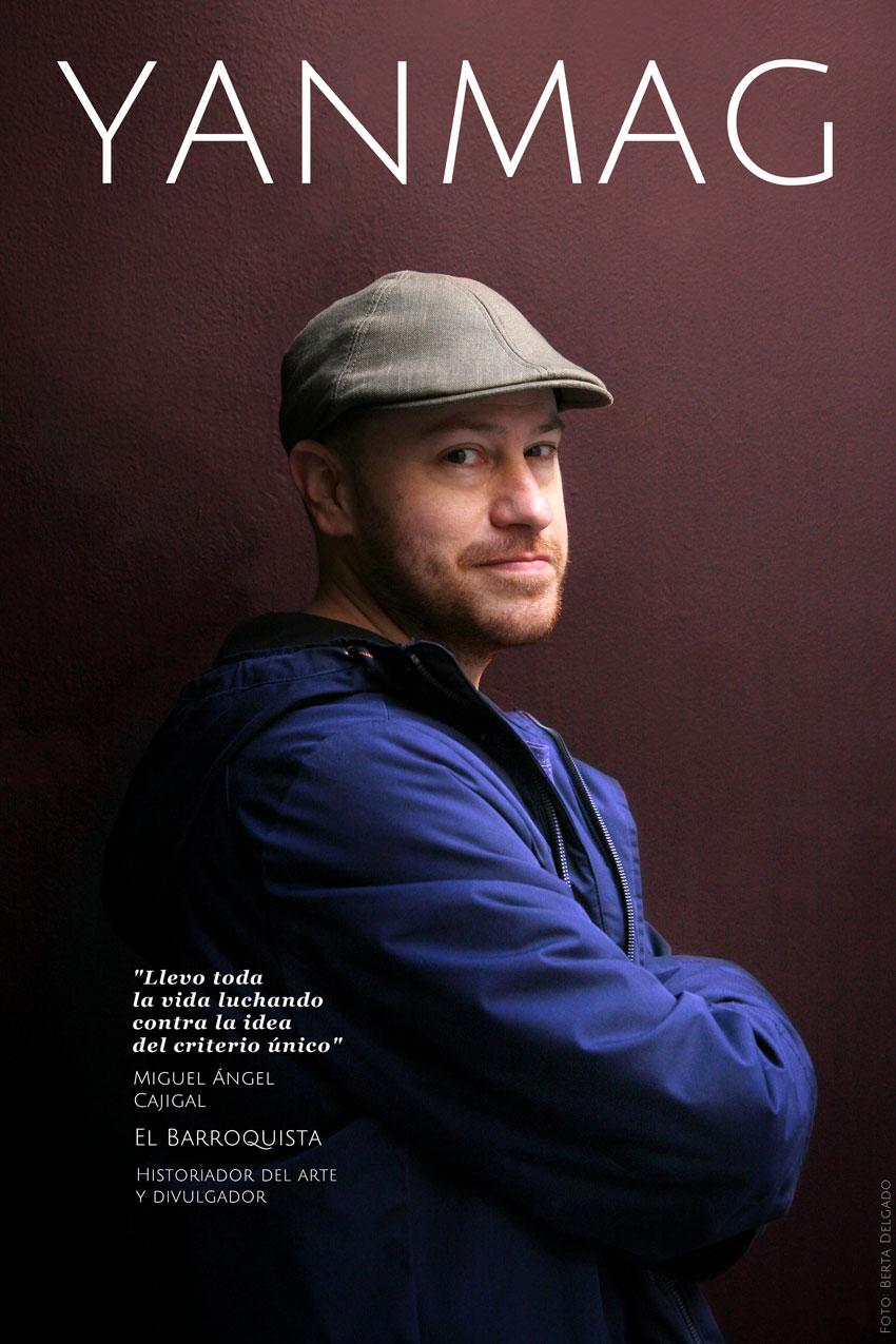 Miguel Angel Cajigal. Historiador, Divulgador y Comisario de Arte. Foto: Berta Delgado. YANMAG