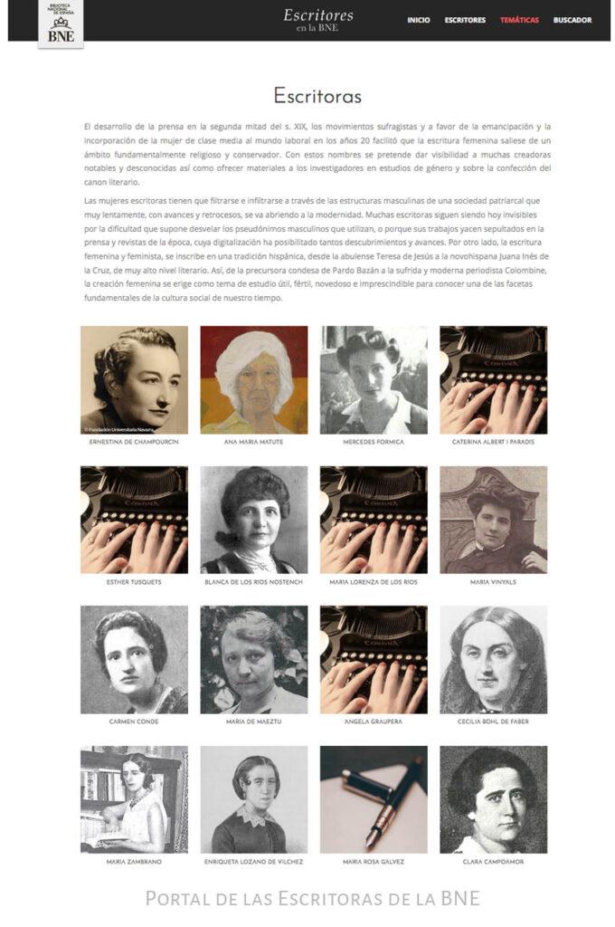 Portal de las Escritoras de la BNE