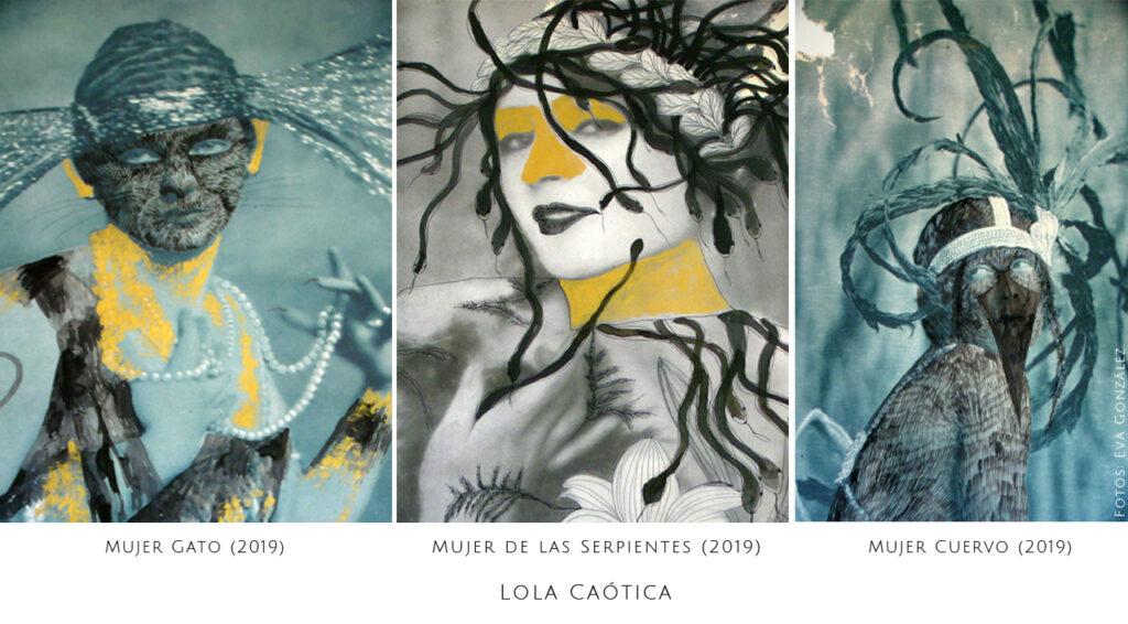 Lola Caotica - Artista Plastica. Proyecto 8x8 (infinitoxinfinito) comisariado por Andrea Perissinotto en colaboracion con YANMAG